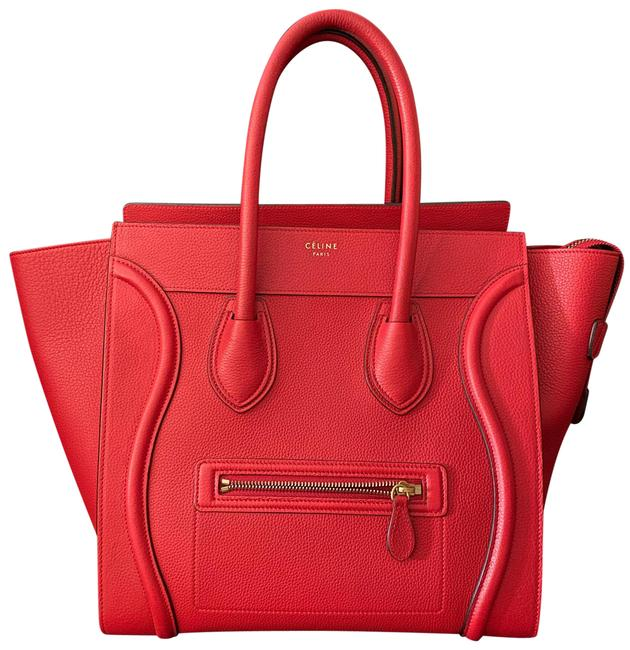 Item - Bag Luggage New Red Calfskin Leather Tote