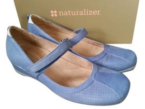 Naturalizer Nubuck Blue Wedges
