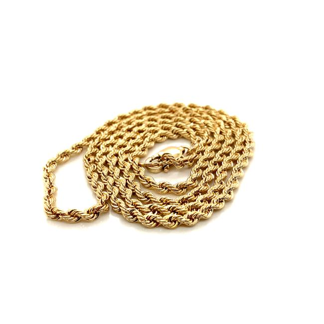 """Item - Yellow Gold 20"""" 14kt Real Rope Chain Necklace"""