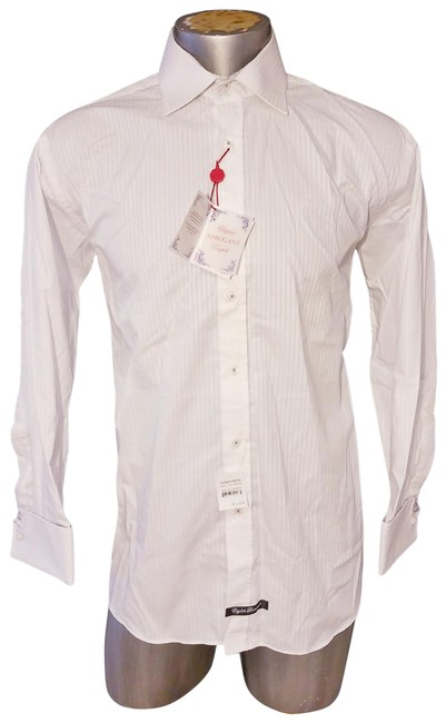 Item - White Christopher New Wicks Striped Shirt 16.5-32 Button-down Top Size 12 (L)