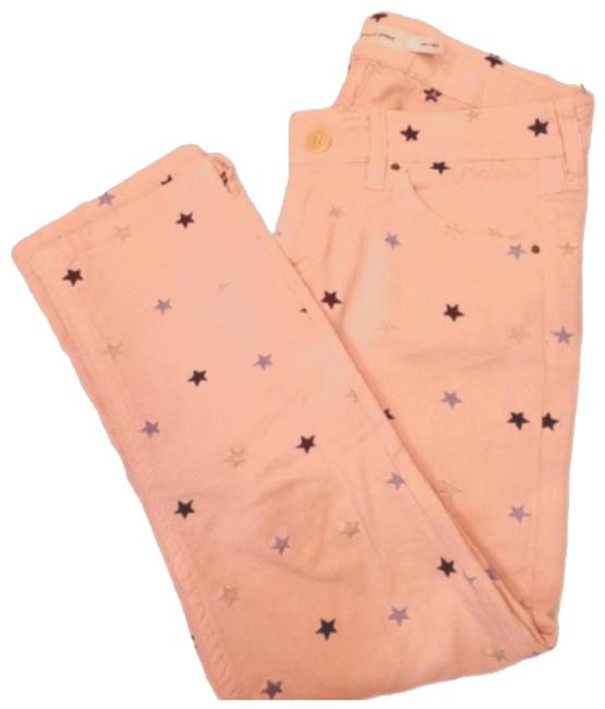 Item - Pink with Stars Coated Straight Leg Jeans Size 35 (14, L)