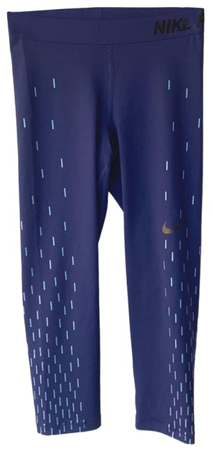 Item - Blue Dri Fit Rectangle Geo Print Athletic Workout Small Activewear Bottoms Size 6 (S, 28)