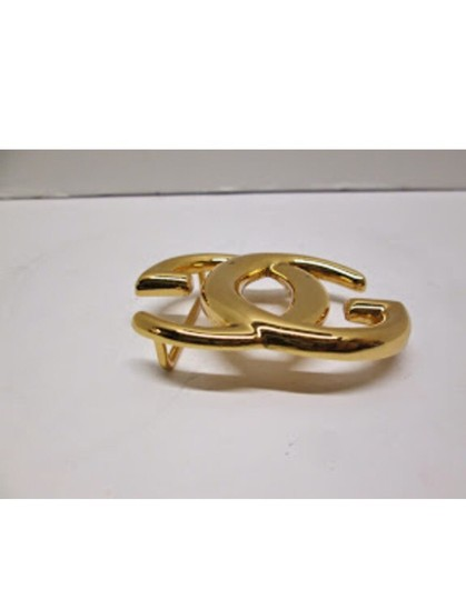Gucci authentic GUCCI gold-tone GG belt buckle