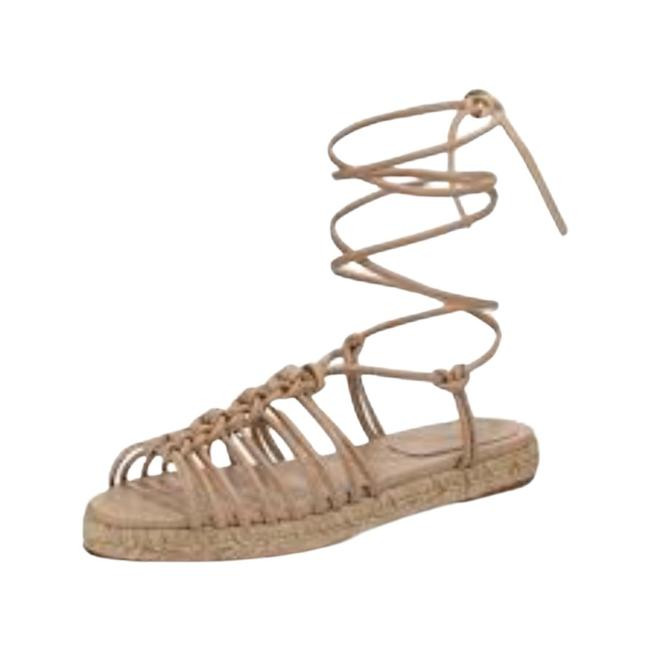 Item - Fawn/Tan Knotted Ankle-wrap Espadrilles Sandals Size EU 39 (Approx. US 9) Regular (M, B)