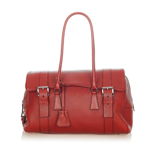Item - Saffiano Red Leather Weekend/Travel Bag