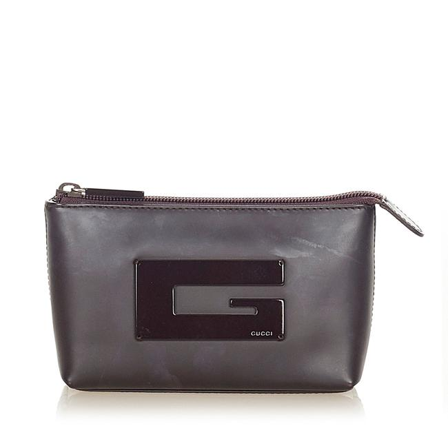 Item - Pouch Brown Leather Wristlet