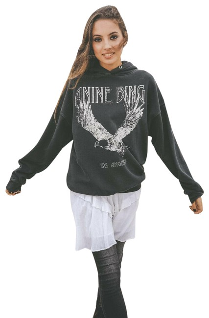 Item - Rowe Hoodie Eagle Washed Size M Black Sweater
