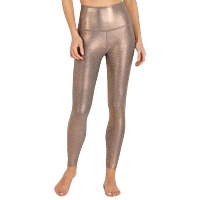 Item - Gold L Womens Dusted High Waisted 7/8 Activewear Bottoms Size 12 (L, 32, 33)