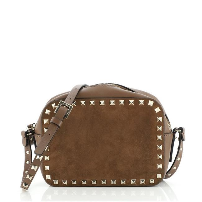 Item - Rockstud Camera Suede and Leather Cross Body Bag