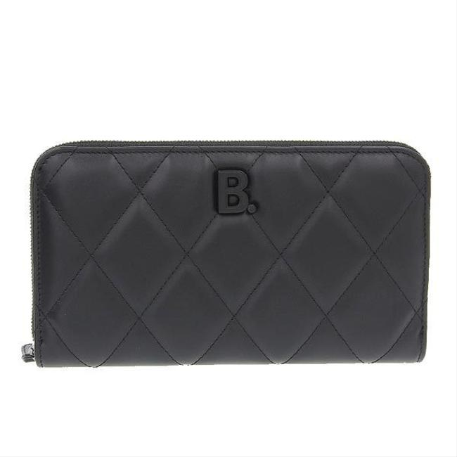 Item - Black Quilted Round Leather 621484 Wallet