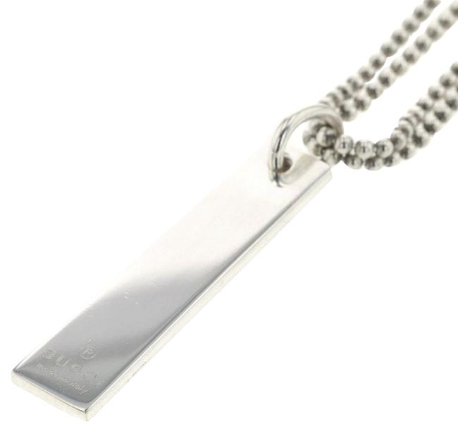 Item - Silver W Chain Plate 925 Men's Necklace
