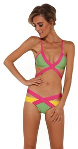 LoveFame Multi Color Bandage 2 Piece Summer Bikini