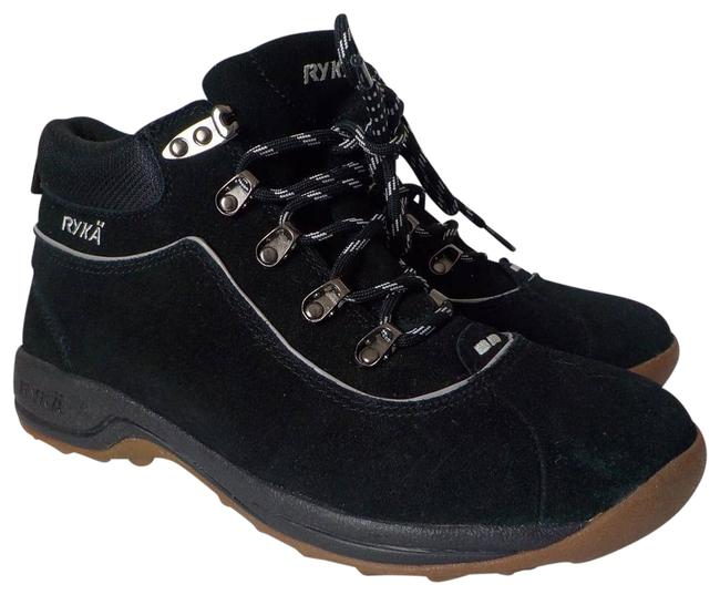 Item - Black Terrain Ankle Suede Leather Hiking Women 8.5w Trail Boots/Booties Size US 8.5 Regular (M, B)