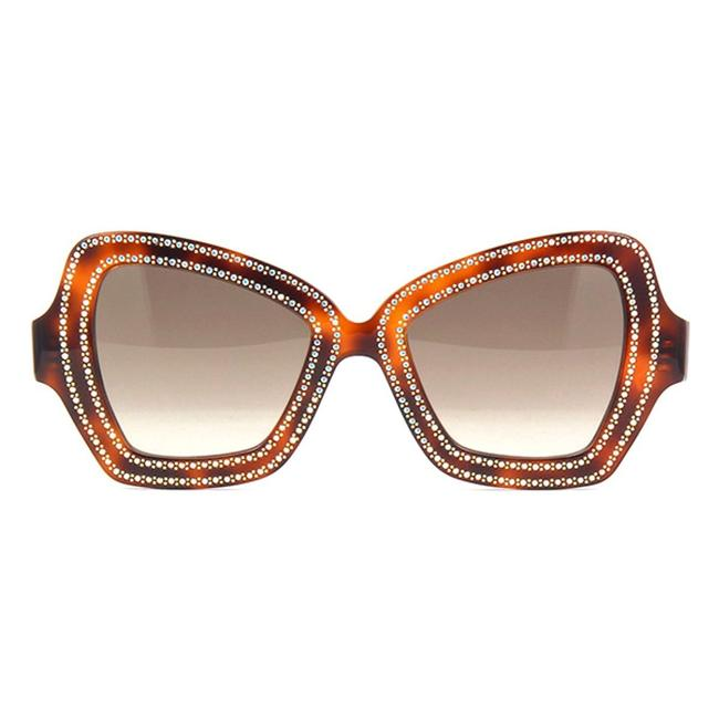 Item - Havana/Brown Cl4067is 56f with Crystals Decor / Gradient Sunglasses