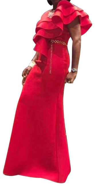 Item - Red Gown Long Formal Dress Size 8 (M)