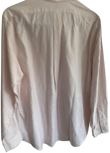 Item - Pink Classic Fit- Trimmed Button-down Top Size 14 (L)