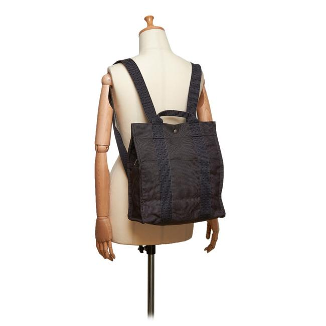 Item - Herline A Dos 79her630 Grey X Navy Canvas Backpack