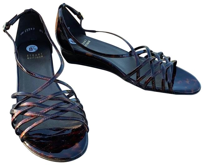 Item - Brown New Patent Leather Sandals Wedges Size US 8.5 Regular (M, B)