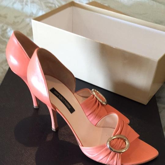 Sergio Rossi Orange/ Peach Sandals