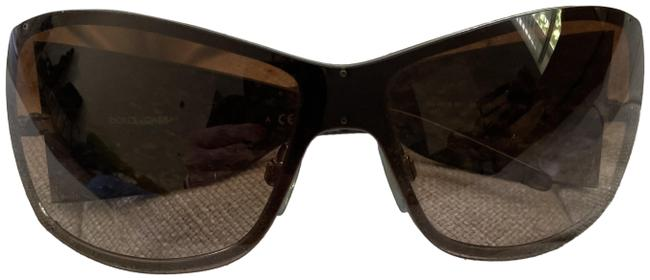 Item - Brown with Side Marbling Shield Shades Sunglasses