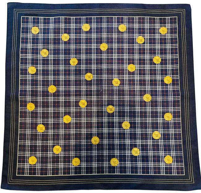 Item - Navy Gold Is Nwot Horseman In Circles. Scarf/Wrap