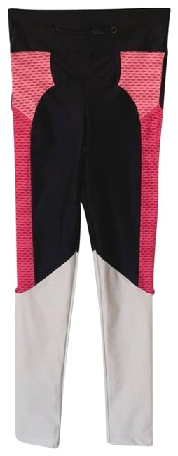 Item - Black Women's Pink Colorblock High Waisted Small Activewear Bottoms Size 6 (S)
