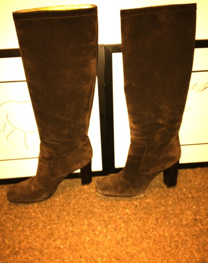 Dolce&Gabbana Suede Knee dark brown Boots