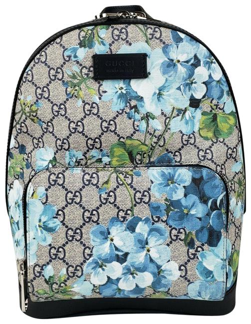 Item - Small with Leather Trim 546327 8493 Blue Gg Supreme Canvas Backpack