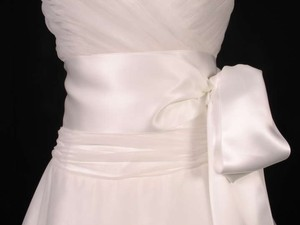 Bridal White Ribbon Sash 4