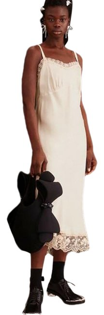 Item - Cream Long Night Out Dress Size 6 (S)