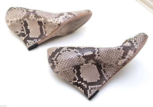 Gucci Snakeskin Print Wedges