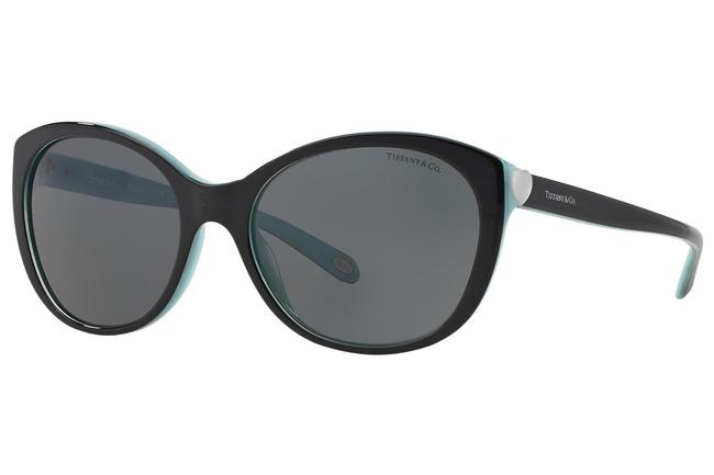 Item - Black / Blue Tf4086h 8163/3f Hearts Collection Cat Eye 56mm Italy Sunglasses