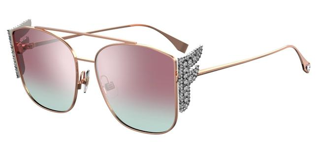 Item - Rose Gold New Ff0380/G/S Pink Mirrored Crystal Sunglasses
