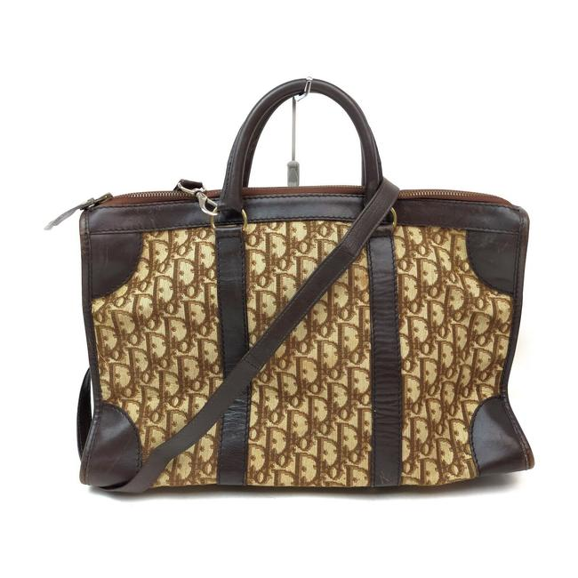 Item - Monogram Trotter Suitcase with Strap 863408 Light Brown Canvas Weekend/Travel Bag