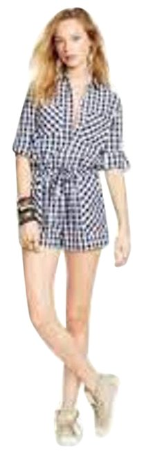 Item - White Checked Gingham Playsuit Romper/Jumpsuit