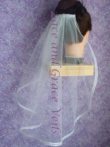 Lace And Grace Veils Cathedral Length Bridal Veil With Trim