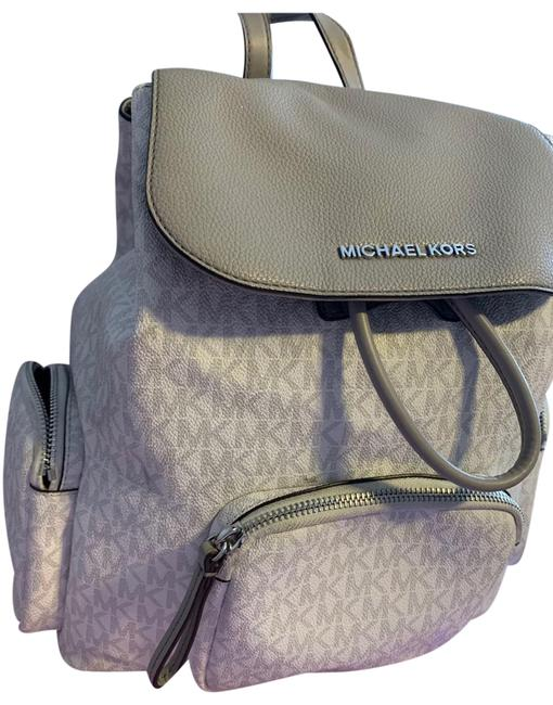 Item - Mk Like New Condition. Only Used 3-4x White and Grey Leather Backpack