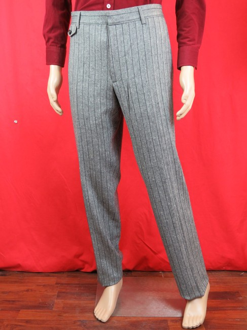 Item - Gray Hysteria W Striped Wool Classic Fit 237983 Trouser Pants 56 42 Groomsman Gift