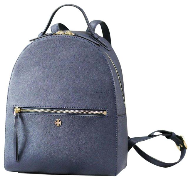 Item - (55487) Emerson Medium Navy Blue Saffiano Leather Backpack