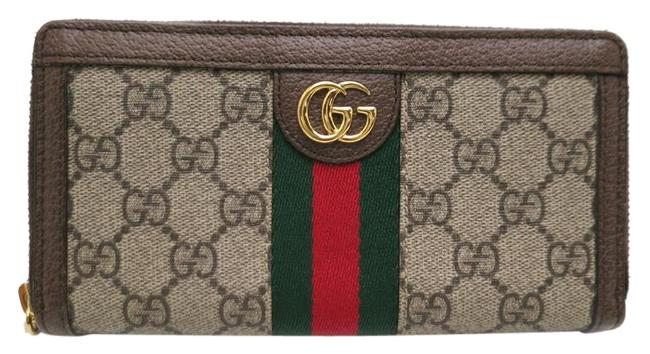 Item - Beige / Green / Red Color Ophodia Gg Ladies Long 523154 Supreme Canvas X / Wallet