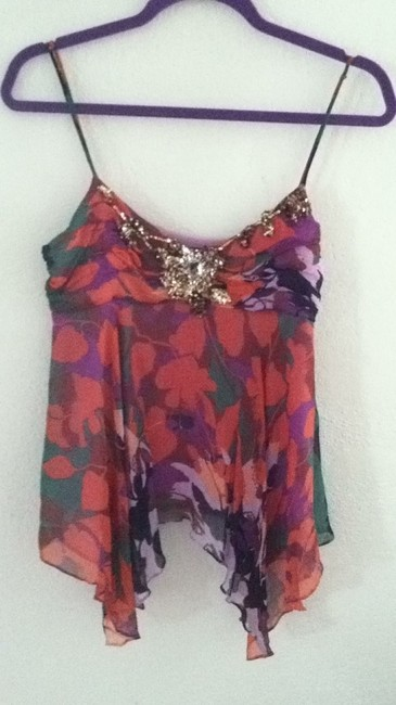 BCBGMAXAZRIA Top orange/purple/brown