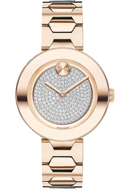 Item - Rose Gold Women's T-bar Carnation with A Flat Dot Crystal Dial Pink Watch