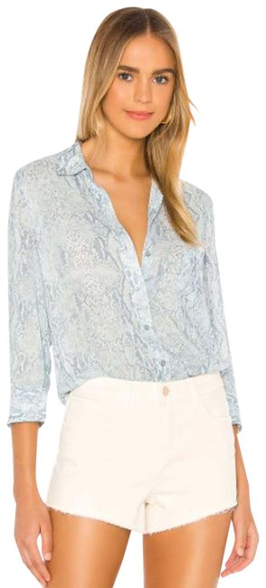 Item - Blue Ryan 3/4 Sleeve Blouse Button-down Top Size 0 (XS)