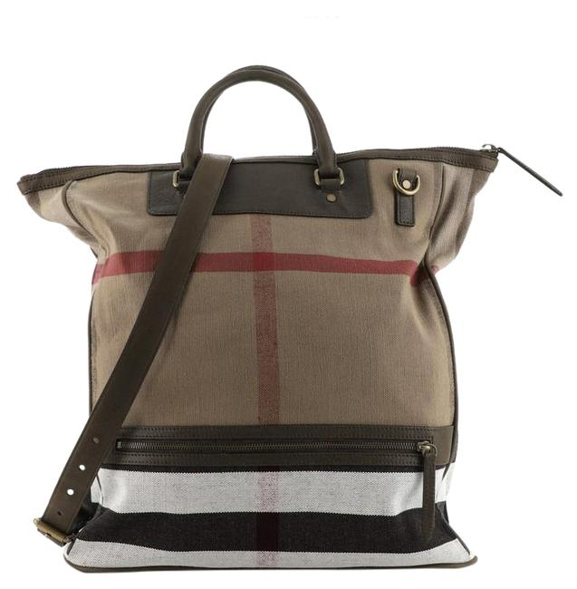 Item - Shopping Richland House Check Large Brown Canvas (Plain) Tote