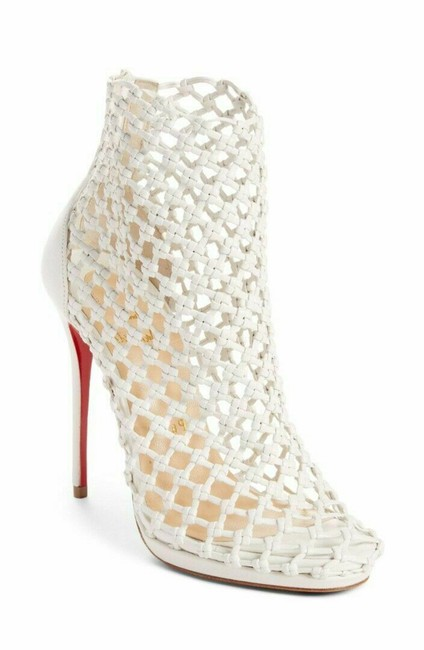Item - White Porligat Caged Leather Ankle Boots/Booties Size EU 39.5 (Approx. US 9.5) Regular (M, B)