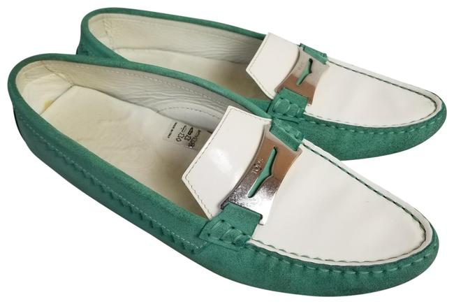Item - Mint Green Suede Leather Penny Loafer Flats Size US 9 Regular (M, B)