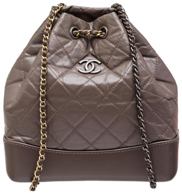 Item - Gabrielle Gray Taupe 505356 Leather Backpack