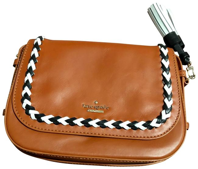 Item - Wales Court Penelope Brown/Black/White Leather Cross Body Bag