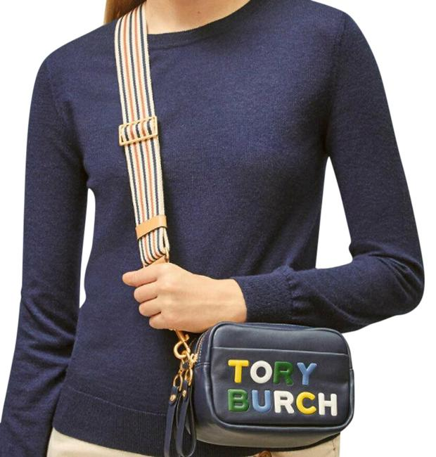 Item - Camera Perry Double Zip Blue Leather Cross Body Bag