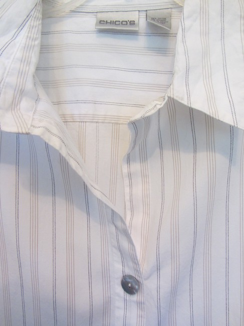 Chico's Top white with stripes Image 1